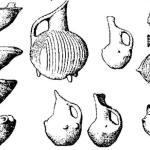 Рис. 17. Керамика из Терми I-II (А) и III-IV (В). По В. Лэмбу, BSA, XXX.