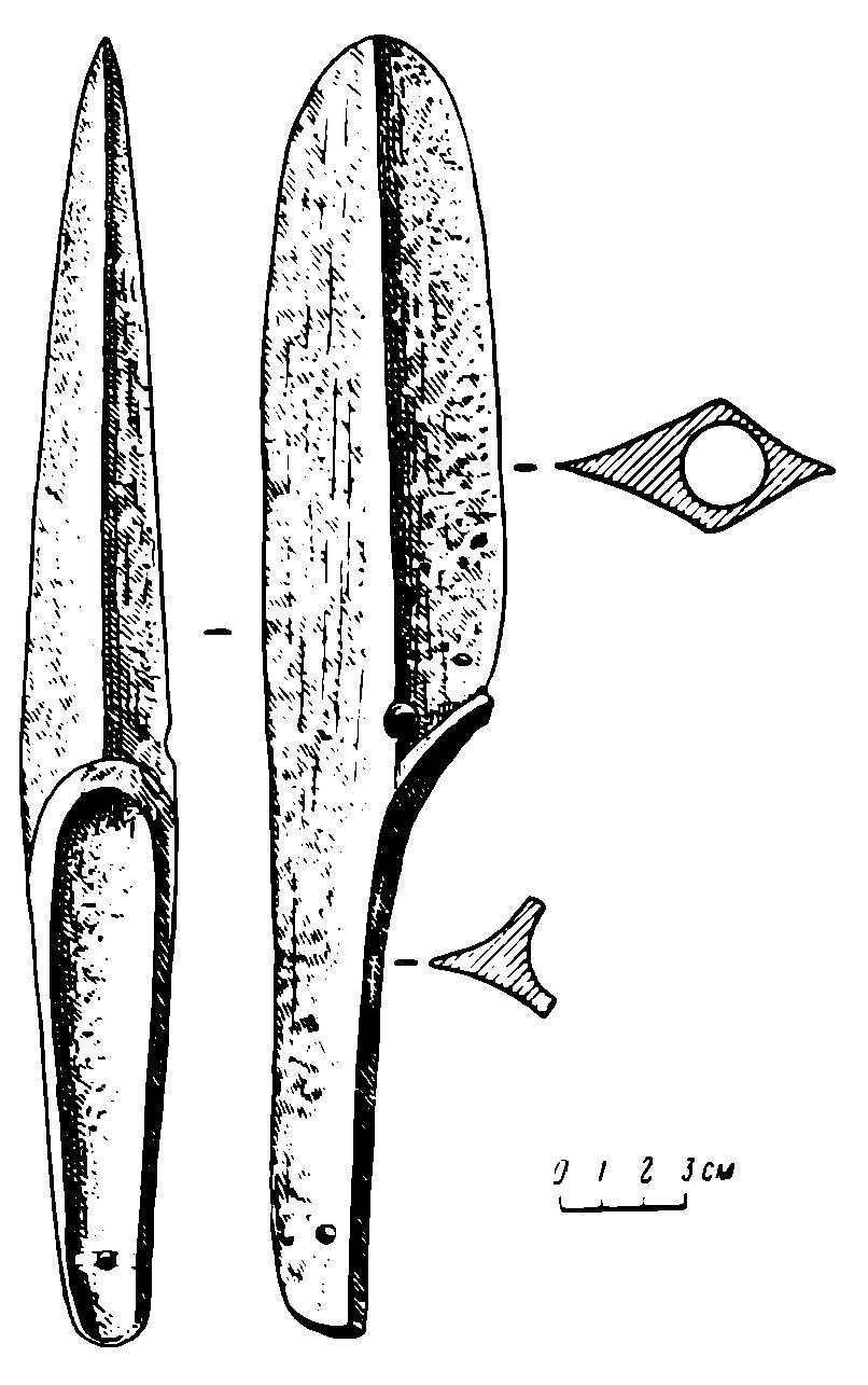 Рис. 1. Бронзовое орудие