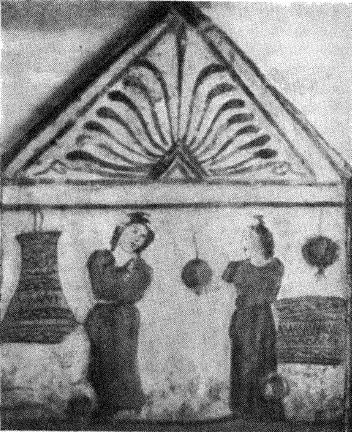 Рис. 3. Роспись луканских гробниц близ Пестума