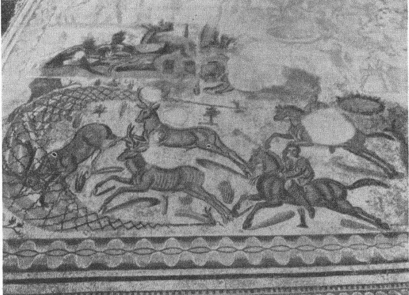 Рис. 5. Деталь мозаики «Большая охота» из виллы Пьяцца Армерина