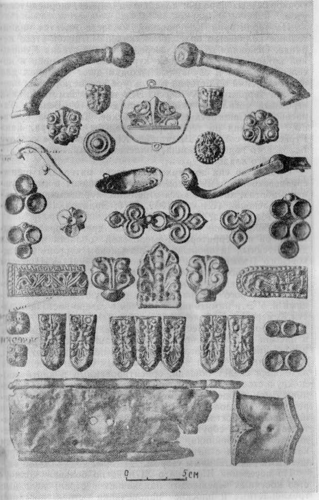 Золотые вещи из раннесредневекового клада у с. Терехино