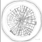 Рис. 27. План-схема кургана Аржан, VIII-VII вв. до н. э., Тува; фигурками юней помечены камеры с конскими захоронениями.