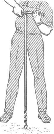 Рис. 5. Бур, употребляемый для взятия проб грунта