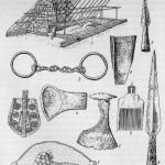 Материальная культура средневековых финно-угров: 1 - реконструкция жилища; 2-3 - корелы; 4 - марийцы; 5-9 - эсты