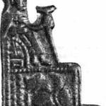Рис. 63. Бронзовый барельеф XIII—XIV вв. с изображением князя