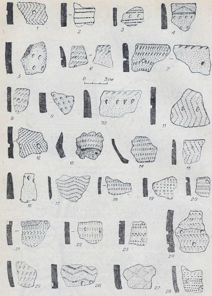 Рис. 6. Фрагменты керамики байрыкского типа. Памятник Каргат-6.