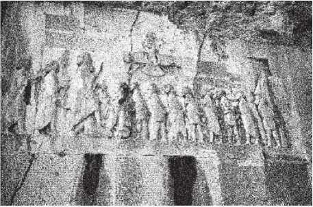 Рис. 2. Бехистунская надпись, VI в. до н. э., Иран.