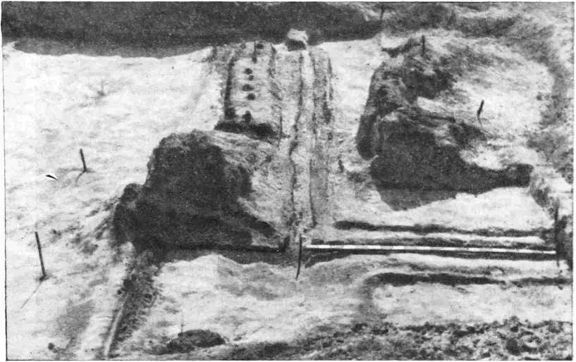 Рис. 3. Остатки укреплений южного вала центральной части крепости
