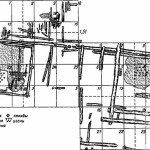 Рис. 4. Белоозеро. Остатки сруба избы с горницей и сенями (план)