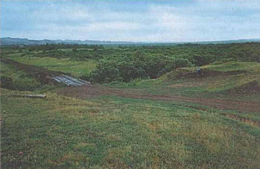 Рис. 2. Поселение Усть-Уроп-I. Фото Ю.В. Ширина. 1998 г.