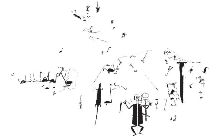 Рис. 45. Западная группа петроглифов мыса Бесов Нос на Онежском озере, Карелия.