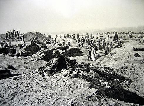 Раскопки на территории Ахетатона. 1912 г.