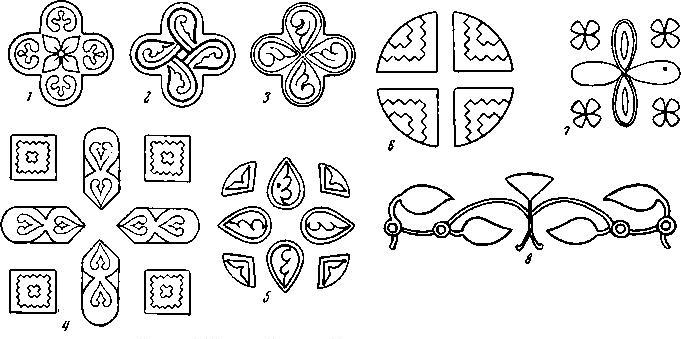 Рис. 11. Крест Лазаря Богши 1161 г. (орнаменты)