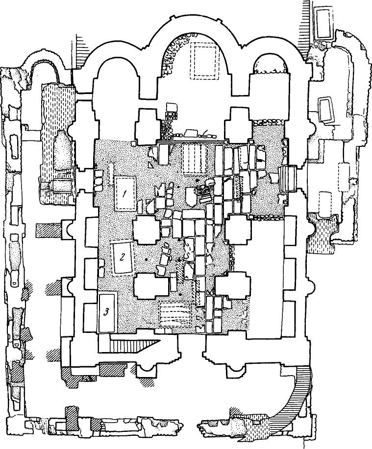 Рис. 14. Общий плав собора с галереями