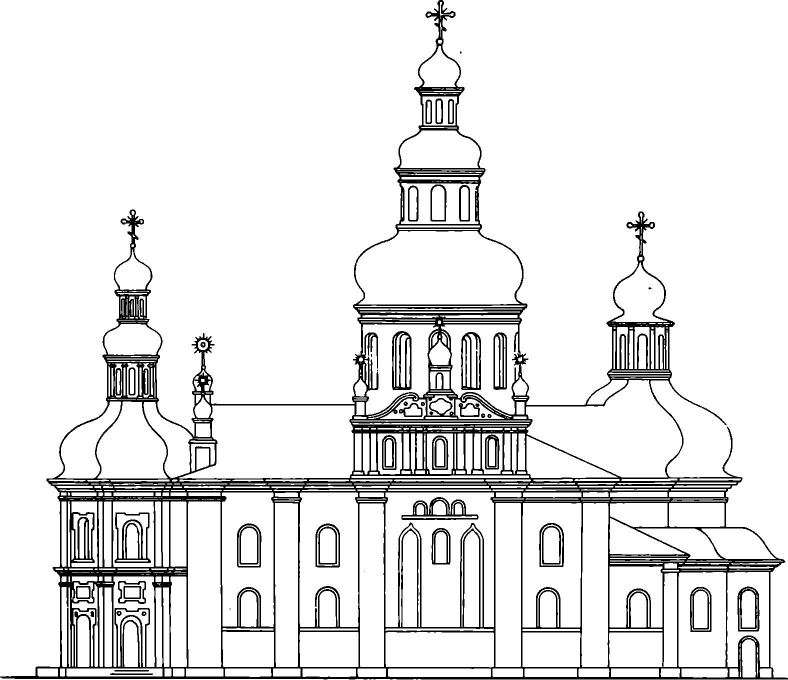 Рис. 1. Собор до реконструкции 1857 г.