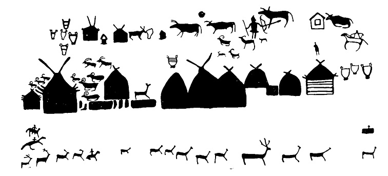 Рис. 5. Изображения на Большой Боярской писанице (деталь)