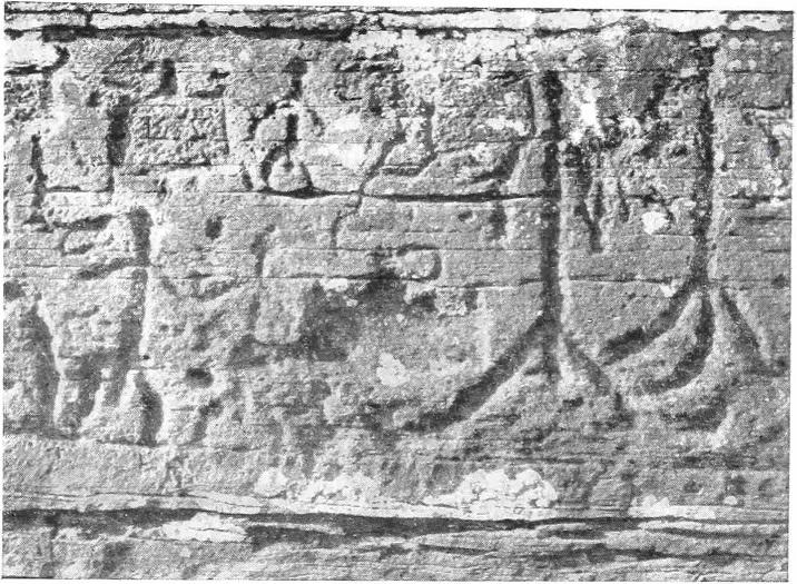 Рис. 7. Правая часть среднего яруса Большой Боярской писаницы