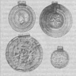 Рис. 16. Северные брактеаты V-VII вв. 1 — тип А, 3 — тип В,2- тип С, 4 — тип D