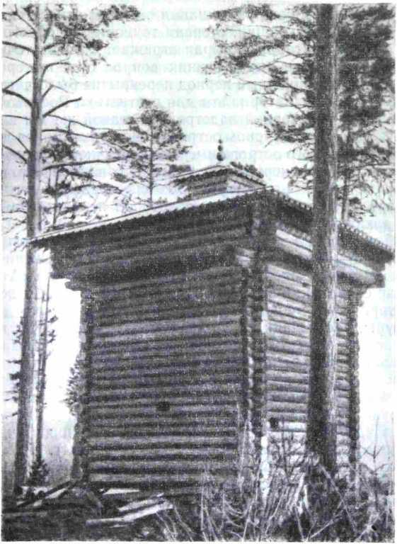 Рис. 2. Вторая башня Братского острога, установленная на территории Братском ГЭС (вид после реставрации)