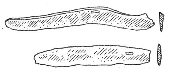Рис. 92. Бронзовые ножи с Белозёрского селища