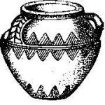 Рис. 145. Бретонский сосуд бронзового века.
