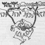Изображение на серебряном сосуде майкопской культуры III тысячелетия до н. э.