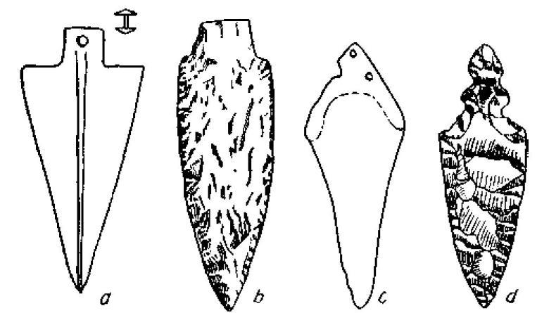 Рис. 116. Медные кинжалы и их кремневые копии. Ремеделло (1/3).