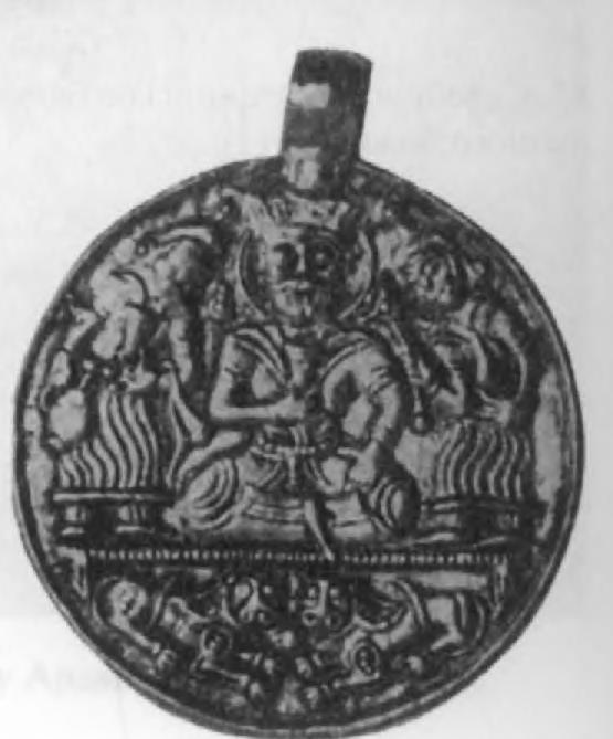 87.Буидский царь на золотом медальоне сасанидского типа (вес 28,99 г)
