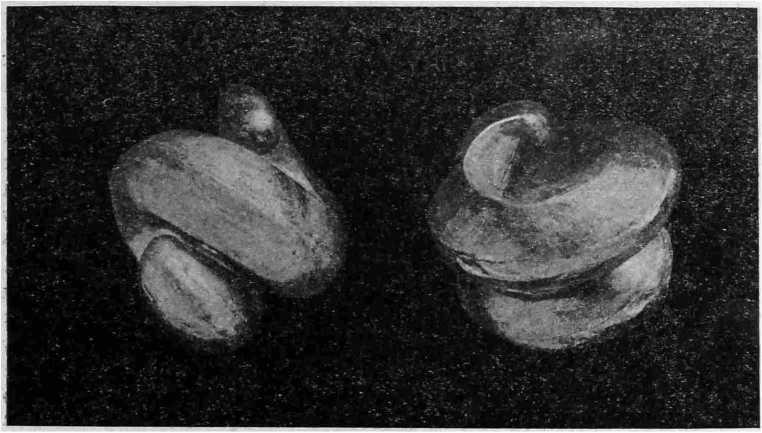 Рис. 18. Золотые височные украшения из кургана № VIII (4/5 нат вел).