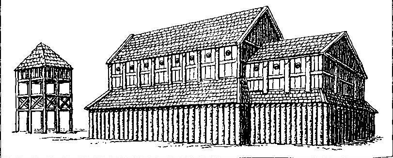 Рис. 125. Церковь Госнода в Лунде (реконструкция). Около 1060 г.