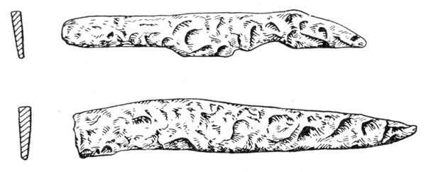Рис. 119. Железные ножи Чернолесской культуры