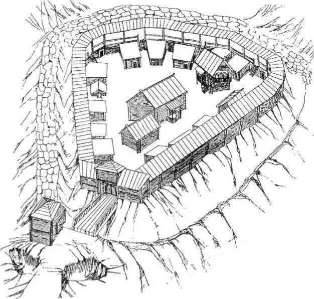 Рис. 16. Чорнівське городите (реконструкція О. А. Бойко та і П. Возного)