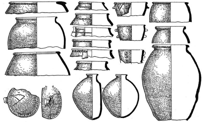 Рис. 4.32. Чирикрабатская культура. Керамика