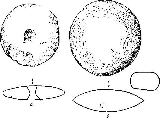 Рис. 11. Костенки IV. Шлифованные изделия из камня (неск. ум.).