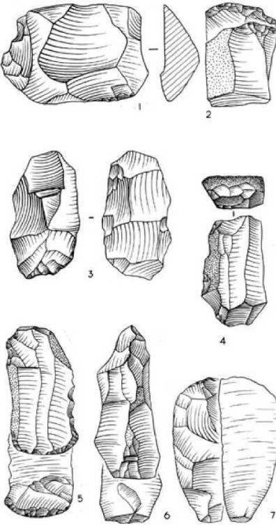 Рис. 2.6. Кудайколь. Каменные орудия труда