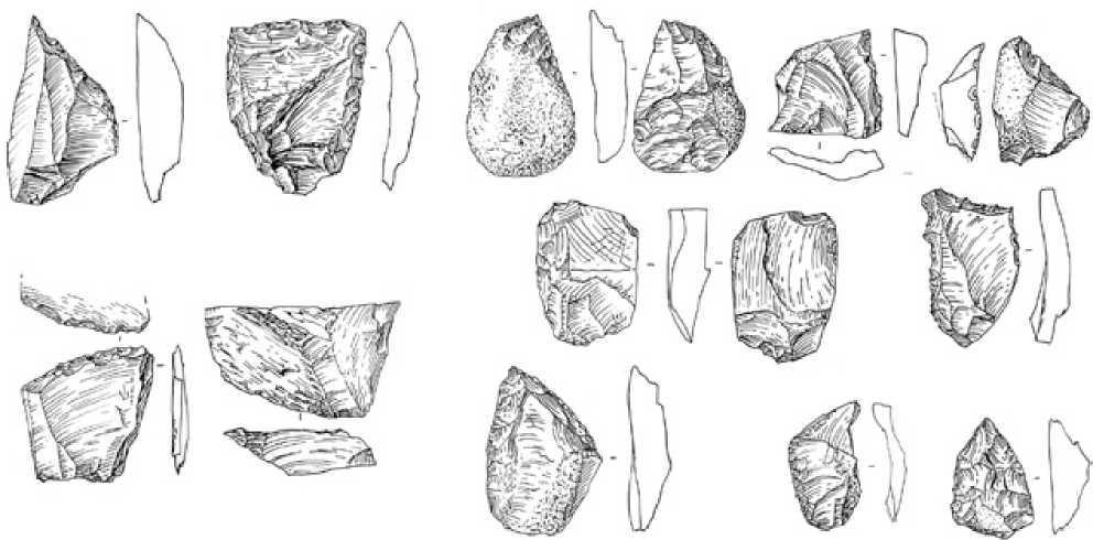 Рис. 2.2. Кошкурган. Каменные орудия труда
