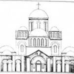 Рис. 13. Десятинна церква (реконструкція М. В. Холостенка)
