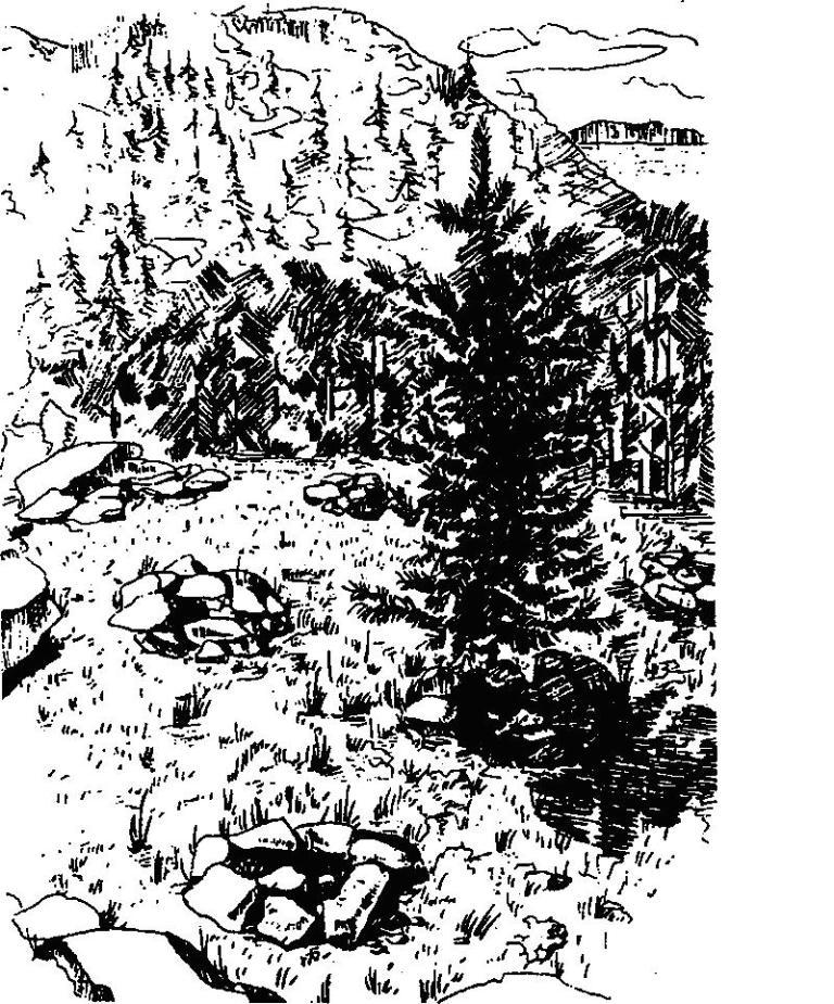 Рис. 45. Жертвенники в бухте Саган-Заба