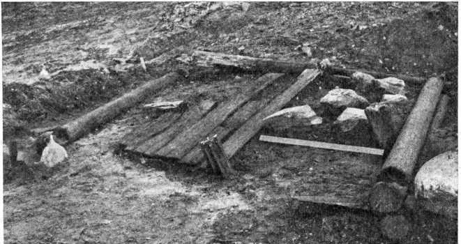 Рис. 3. Раскопанные остатки дома на полуострове Бреггер.