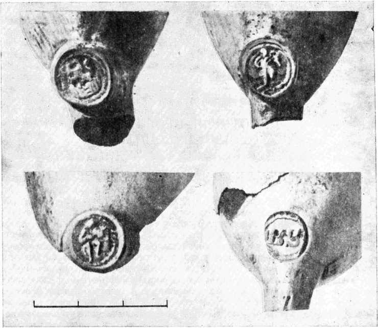 Рис. 5. Клейма на курительных трубках.