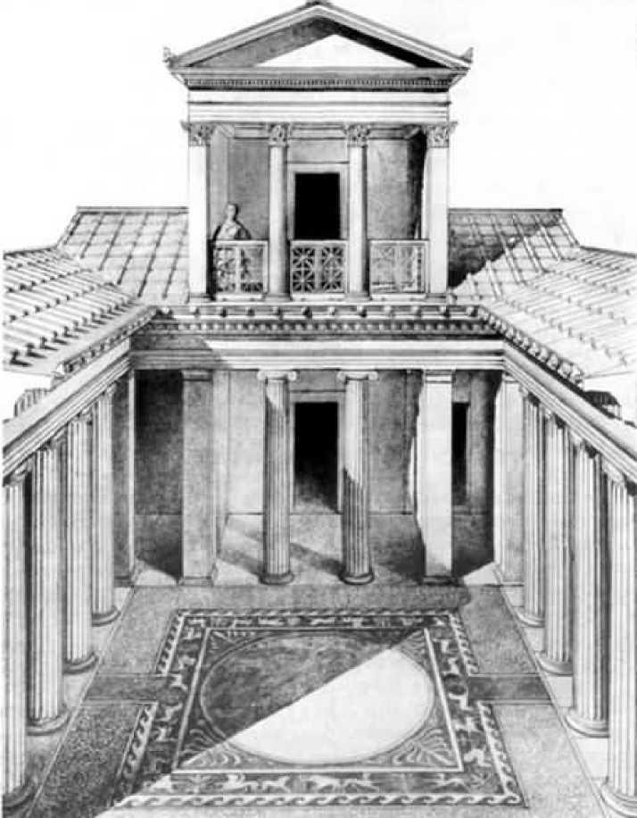 Богатый ольвийский дом. Реконструкция Б.В. и М.В. Фармаковских