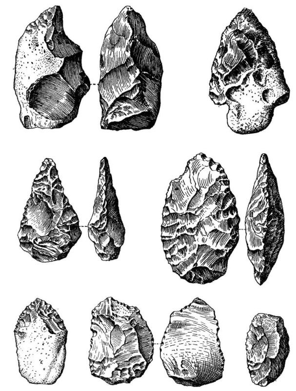 Шелльские и ашельские орудия из Северной Франции