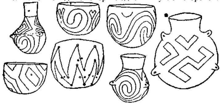 Рис. 47. Керамика I дунайской культуры.
