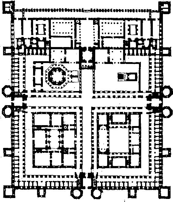 Сплит. Дворец Диоклетиана. План