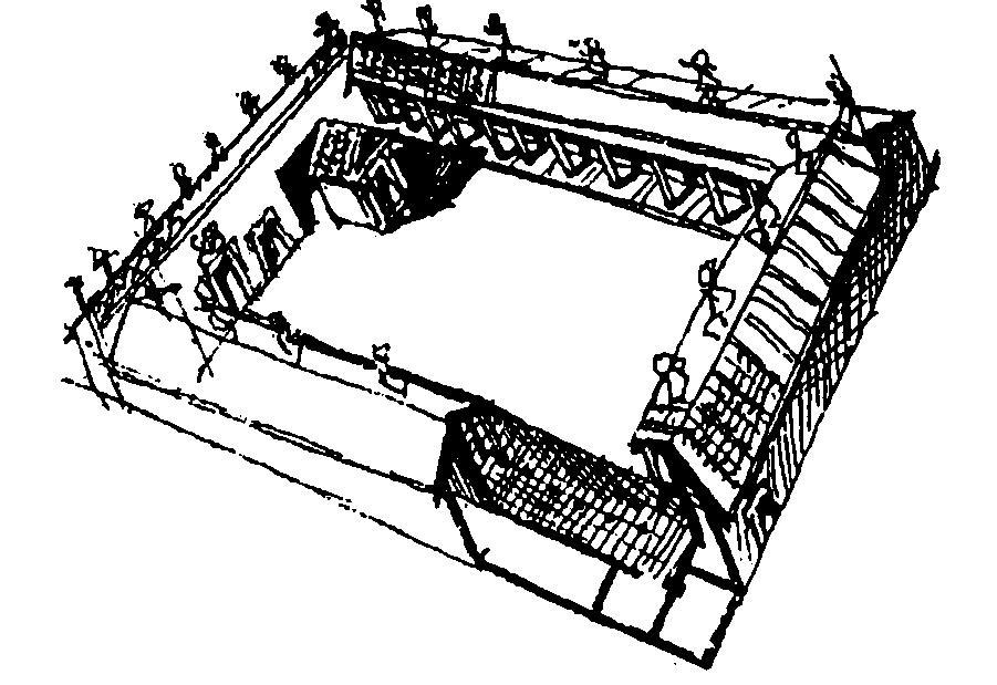 Общий вид дворца в Мурло с отдельными частями сооружений