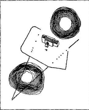 Рис. 46. Еллинг, резиденция датских конунгов. Аксонометрическая реконструкция по Э. Дюггве