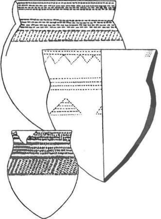 Типичные формы сосудов среднестоговской культуры
