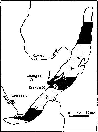 Рис. 1. Местонахождение энеодитического погребения в бухте Саган-нугэ