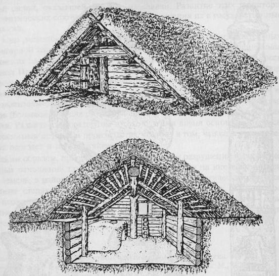 Славянское жилище (по М. Гимбутас)