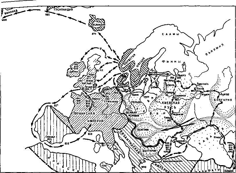Рис. 4. Европа в IX-XI вв.